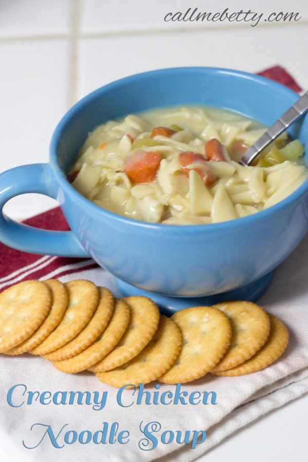 Creamy Chicken Noodle With Words